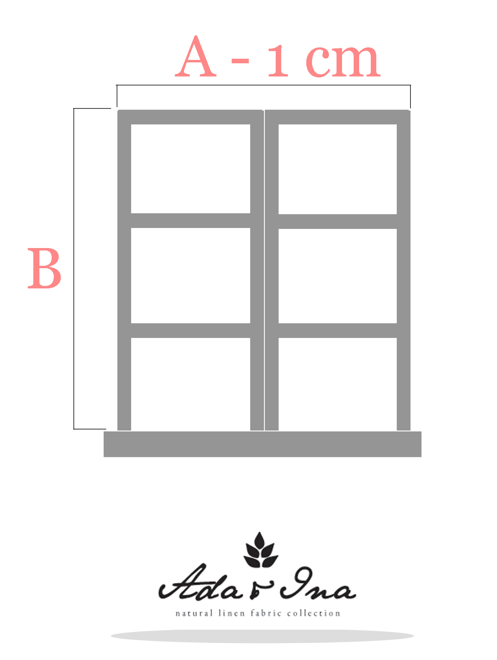 Laskosverhot - mittojen ottaminen laskosverhoille ikkunan ympäri - Ada & Ina