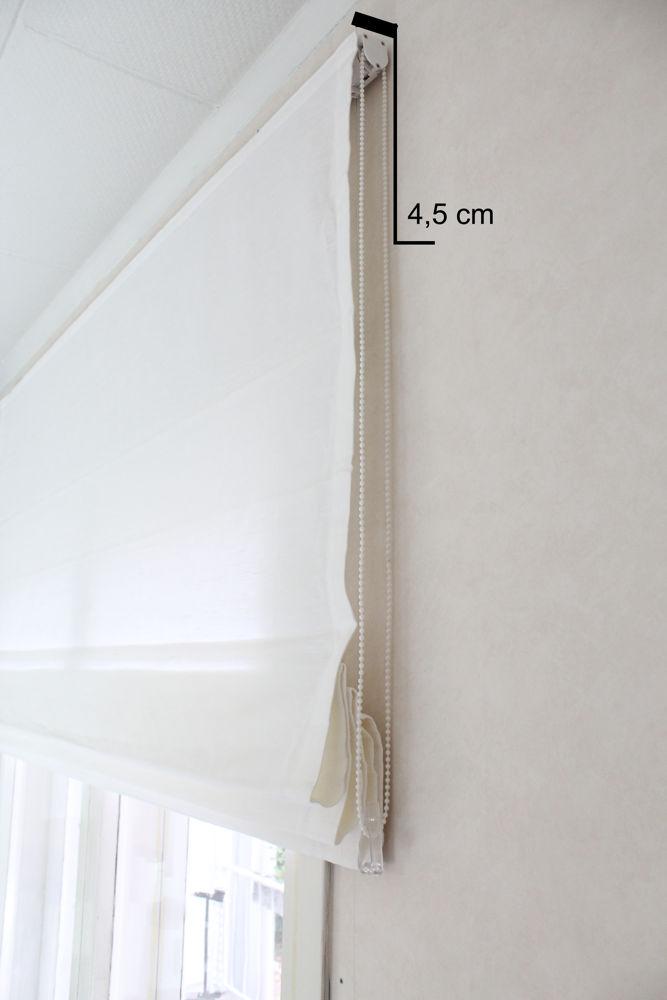 Laskosverho, mekanismin syvyys on noin 4,5 cm