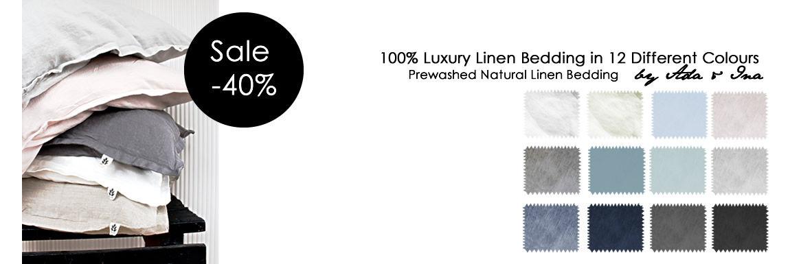 Pellavavuodevaatteiden värit - Ale-hinta -40%